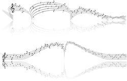 Priorità bassa musicale astratta, simbolo, segno Fotografia Stock