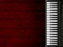 Priorità bassa musicale con la tastiera di piano Fotografia Stock Libera da Diritti