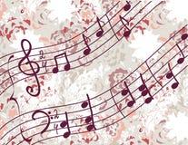 Priorità bassa musicale con melodia Fotografie Stock