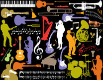 Priorità bassa musicale degli elementi Immagine Stock