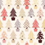 Priorità bassa naturale dell'albero di Natale Fotografia Stock