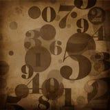 Priorità bassa nello stile del grunge con i numeri Fotografia Stock