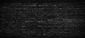 Priorità bassa nera del muro di mattoni Fotografia Stock Libera da Diritti