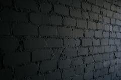 Priorità bassa nera del muro di mattoni muratura di buio di struttura fotografia stock