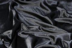 Priorità bassa nera della tessile Fotografia Stock