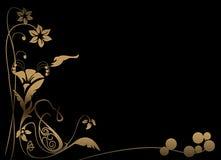 Priorità bassa nera floreale illustrazione vettoriale