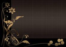 Priorità bassa nera floreale di griglia royalty illustrazione gratis