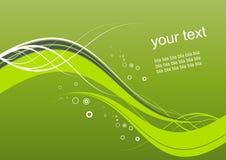 Priorità bassa ondulata verde astratta illustrazione di stock