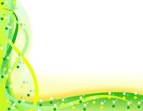 Priorità bassa ondulata verde ed arancione della sorgente Immagine Stock