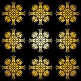 Priorità bassa ornamentale dorata Fotografia Stock