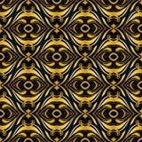 Priorità bassa ornamentale dorata sul nero Fotografia Stock Libera da Diritti
