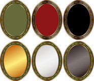 Priorità bassa ovale Fotografia Stock