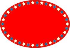 Priorità bassa ovale blu bianca rossa della stella di vettore EPS8 Fotografia Stock Libera da Diritti