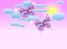 Priorità bassa pastello della farfalla Fotografia Stock Libera da Diritti