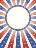 Priorità bassa patriottica con lo spazio della copia del cerchio Fotografie Stock Libere da Diritti