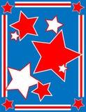 Priorità bassa patriottica della stella di vettore Fotografia Stock
