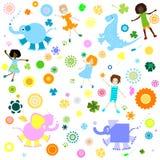 Priorità bassa per i bambini illustrazione vettoriale