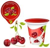Priorità bassa per il disegno del yogurt dell'imballaggio Fotografia Stock Libera da Diritti