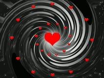 Priorità bassa per le feste - giorno di astrazione dei biglietti di S. Valentino illustrazione vettoriale