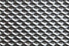 Priorità bassa perforata del metallo Fotografie Stock Libere da Diritti