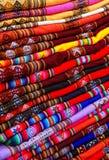 Priorità bassa peruviana del tessuto Immagine Stock Libera da Diritti
