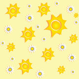 Priorità bassa piena di sole con le margherite illustrazione vettoriale