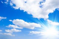 Priorità bassa piena di sole del cielo Fotografie Stock Libere da Diritti