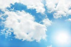 Priorità bassa piena di sole del cielo Fotografia Stock Libera da Diritti