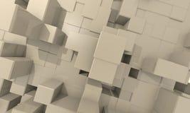 Priorità bassa profonda del cubo dello structur Fotografia Stock