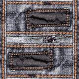 Priorità bassa progettata dei jeans Fotografie Stock Libere da Diritti
