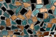 Priorità bassa quadrata astratta del mosaico del pixel fotografia stock libera da diritti