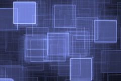 Priorità bassa quadrata blu Fotografia Stock