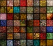 Priorità bassa quadrata di struttura di tono della terra Fotografia Stock Libera da Diritti