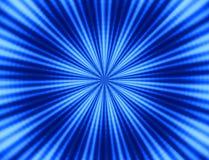 Priorità bassa radiale blu Fotografia Stock