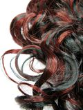 Priorità bassa riccia di struttura dei capelli di punto culminante Fotografia Stock