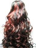 Priorità bassa riccia di struttura dei capelli di punto culminante Immagini Stock Libere da Diritti