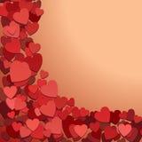 Priorità bassa romantica con i cuori royalty illustrazione gratis