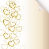 Priorità bassa romantica con le catene dorate ed il cuore royalty illustrazione gratis