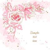 Priorità bassa romantica con le rose Fotografia Stock Libera da Diritti