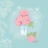 Priorità bassa romantica con le rose Immagini Stock Libere da Diritti