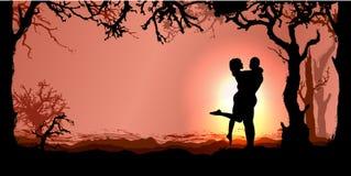 Priorità bassa romantica di vettore royalty illustrazione gratis
