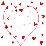 Priorità bassa romantica floreale di doodle sveglio Fotografia Stock Libera da Diritti