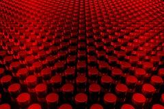 Priorità bassa rossa 3D Fotografie Stock