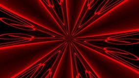 Priorità bassa rossa astratta Caleidoscopio di Digital rappresentazione 3d illustrazione vettoriale