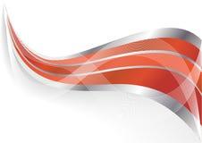 Priorità bassa rossa astratta di vettore illustrazione di stock