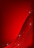 Priorità bassa rossa con le stelle Fotografia Stock Libera da Diritti