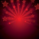 Priorità bassa rossa con le stelle Fotografia Stock