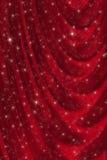 Priorità bassa rossa del drapery Fotografia Stock Libera da Diritti