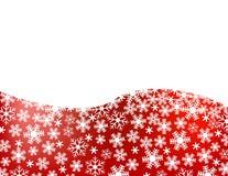 Priorità bassa rossa del fiocco di neve Fotografie Stock Libere da Diritti