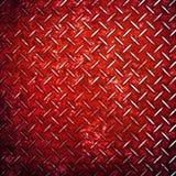 Priorità bassa rossa del metallo del diamante Fotografie Stock